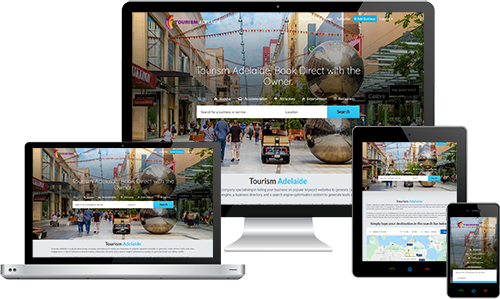 Tourism Adelaide displayed beautifully on multiple devices