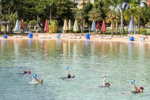 Aqua fitness in the Wave Lagoon - Tourism Adelaide
