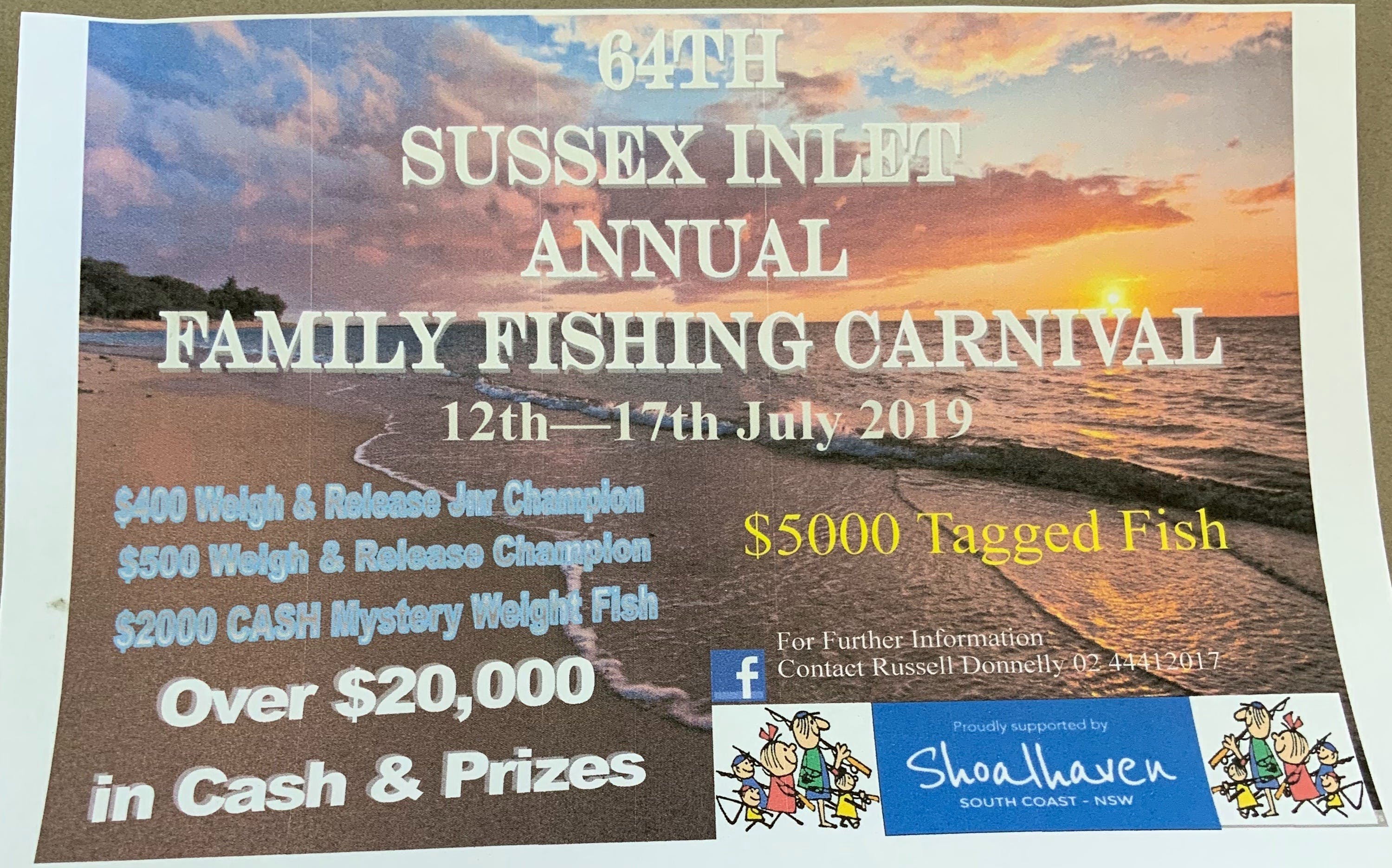 The Sussex Inlet Annual Family Fishing Carnival - Tourism Adelaide